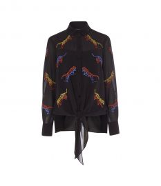 Embroidered Tiger Blouse at Karen Millen