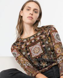 Embroidered Top at Zara