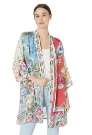 Embroidered Trim Kimono by Johnny Was at Amazon