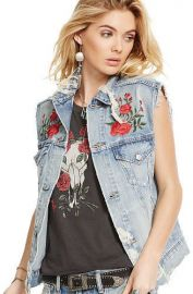 Embroidered Trucker Vest at Ralph Lauren