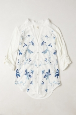Embroidered Willa Top at Anthropologie
