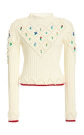Embroidered Wool Sweater by Philosophy di Lorenzo Serafini at Moda Operandi