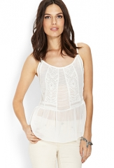 Embroidered boho cami at Forever 21