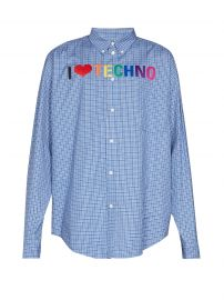 Embroidered checked shirt at Matches