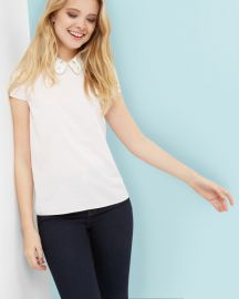 Embroidered collared top by Ted Baker at Ted Baker