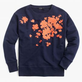 Embroidered flower sweatshirt at J. Crew