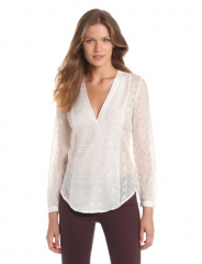 Embroidered henley by Cynthia Vincent at Amazon