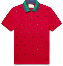 Embroidered polo by Gucci at Mr Porter