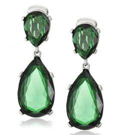 Emerald-Color Teardrop Earrings by Kenneth Jay Lane at Amazon