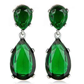 Emerald-Color Teardrop Earrings by Kenneth Jay Lane at Haute Headquarters