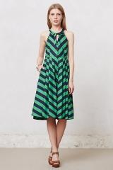 Emerald Ripple Dress at Anthropologie