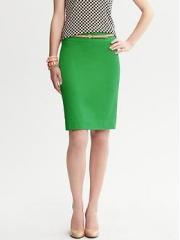 Emerald green Pencil Skirt at Banana Republic