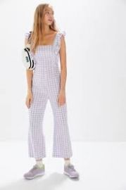 Emerson Gingham Ruffle Jumpsuit at Urban Outfitters