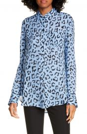 Emerson Leopard Print Silk Top at Nordstrom