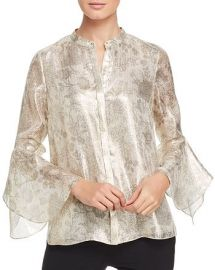 Emerson Metallic Floral Blouse at Bloomingdales