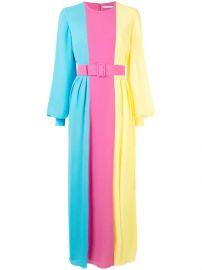 Emilia Wickstead Colour Block Long Dress - Farfetch at Farfetch
