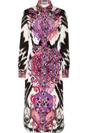 Emilio Pucci - Printed silk-crepe midi dress at Net A Porter