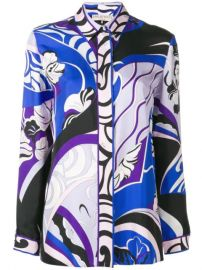 Emilio Pucci Hanami Print Silk Shirt - Farfetch at Farfetch