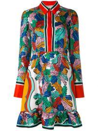 Emilio Pucci Leaf Print Dress at Farfetch