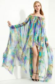 Emilio Pucci Patchwork Print Chiffon Gown   Nordstrom at Nordstrom