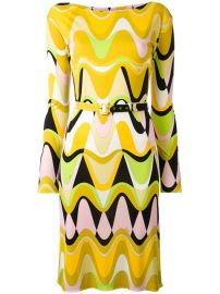 Emilio Pucci Printed Slash Neck Dress  1 280 - Buy AW17 Online - Fast Delivery  Price at Farfetch