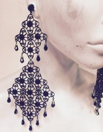Emily Earrings by MariannaHarutunian at Etsy