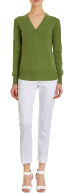 Emily's green sweater at Barneys
