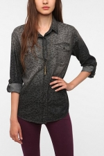 Emily's grey leopard shirt at Urban Outfitters