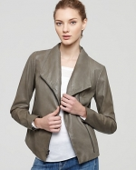 Emilys leather jacket by Vince at Bloomingdales