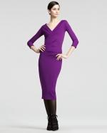 Emily's purple Donna Karan dress at Saks Fifth Avenue