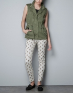 Emily's studded vest at Zara at Zara