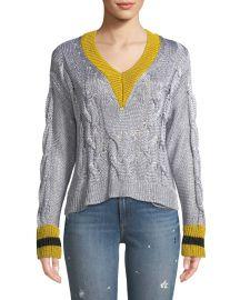 Emma Cropped V-Neck Sweater at Bergdorf Goodman