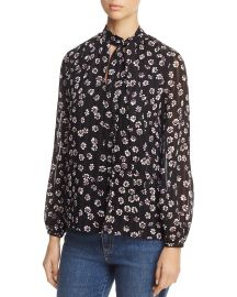 Emma Tie-Neck Silk Blouse by Tory Burch at Bloomingdales