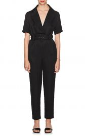 Emmanuel Linen-Blend Belted Jumpsuit at Barneys