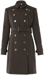 Emma's grey trench coat at Matches