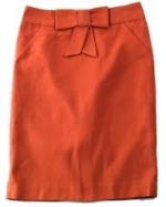 Emmas orange skirt from Jcrew at J. Crew