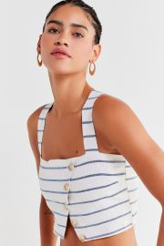 dcc99c884e8ac0 WornOnTV  Mariana s stripped button front crop top on The Fosters ...