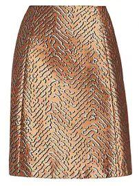 Emporio Armani - Animal Jacquard A-Line Skirt at Saks Fifth Avenue