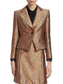 Emporio Armani - One-Button Animal Jacquard Jacket at Saks Fifth Avenue