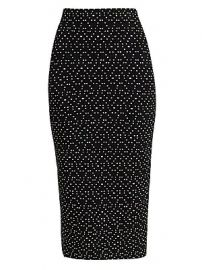 Emporio Armani - Polka-Dot Stretch Pencil Skirt at Saks Fifth Avenue