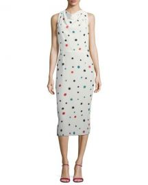 Emporio Armani Cosmic-Dot Racerback Sheath Midi Dress   Neiman at Neiman Marcus