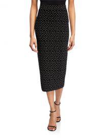 Emporio Armani Dot-Jacquard Knit Pencil Skirt at Neiman Marcus