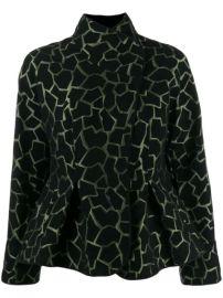 Emporio Armani Giraffe Print Jacket - Farfetch at Farfetch