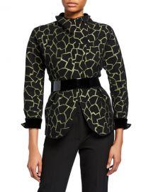 Emporio Armani Giraffe-Print Jacket at Neiman Marcus
