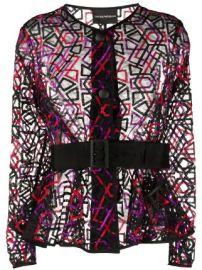 Emporio Armani sheer jacket sheer jacket at Farfetch