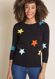 End of Starry Sweater at ModCloth