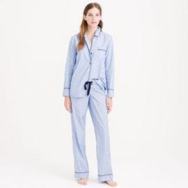 End-on-end pajama set in swiss-dot at J. Crew