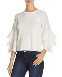 Endless Rose Tiered Sleeve Sweater in White at Bloomingdales