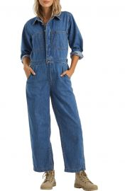Endless Days Long Sleeve Denim Boiler Suit at Nordstrom