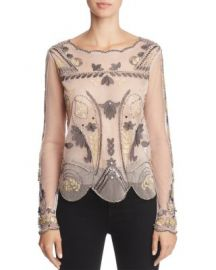 Endless Rose Embellished Mesh Top   Bloomingdale  39 s at Bloomingdales